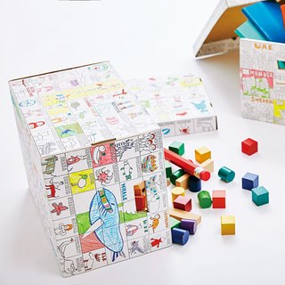 Creative Coloring Graffiti Paper from Japan - # NuRIEbox Graffiti Storage Box No1 World Peace # Made in Japan Family Fun Creative Goods