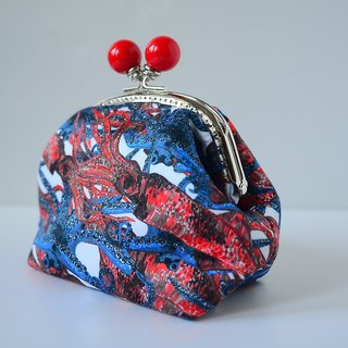 Cosmetic Frame Purse - Octopus - Portable and multiple purposes - Japanese fabric