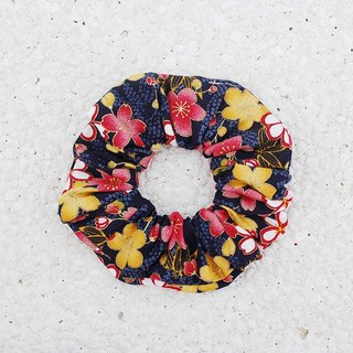 Colorful flower development bundle _ blue / large intestine ring donut hair ring