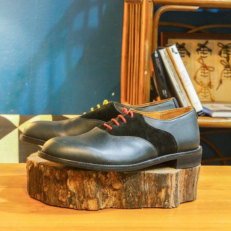 【展示打樣品】純手工訂製 馬鞍鞋-SA02 黑色 皮鞋 男 紳士鞋