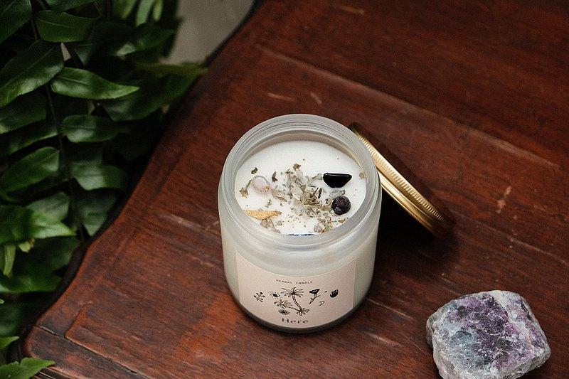 CLEAR&CREATE 水晶花草能量香氛蠟燭145g 白鼠尾草