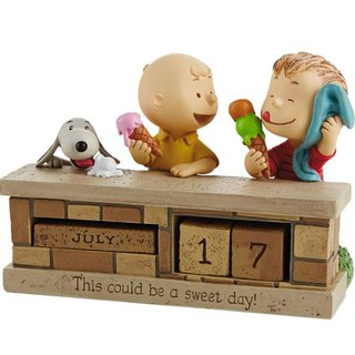 Snoopy handmade calendar sculpture - desolate years [Hallmark-Peanuts Snoopy]
