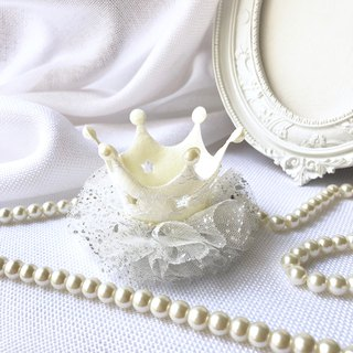 Bright lacing lace crown / silver white