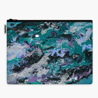 SpaceSuit - Document Pouch - Marble Abstraction