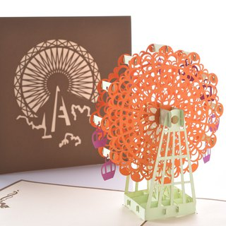 3D hand-made happy Ferris wheel (orange)