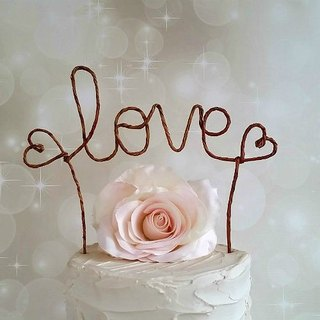 LOVE Rustic Cake Topper Banner, Rustic Wedding Cake Topper, Custom Shabby Chic Wedding Cake ToRustic Wedding Cake Decoration, Wedding Decor