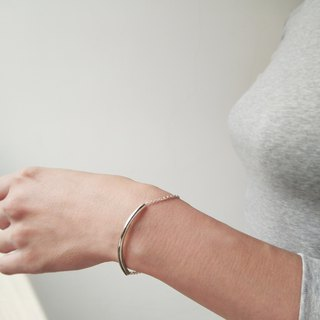 Mittag BL802 tube bracelet_ round tube bracelet 925 sterling silver limited designer hand with brand wood jewelry box, polishing silver cloth over take free transport