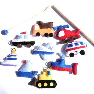 Felt car set fishing educational goods toys children