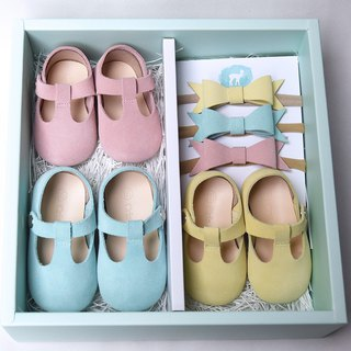 Baby Gift Set for Girls, Set of 3 Baby Shoes NB/3M/6M, Newborn Gift Girl
