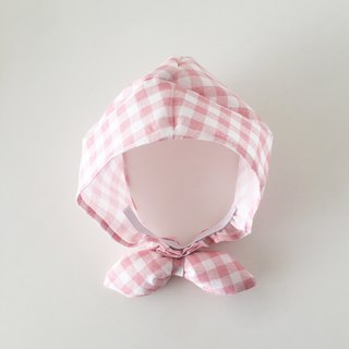 Pink checkered hat