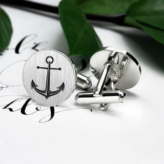 Anchor Cufflinks – Anchor jewerly for men – Engraved Cufflinks for groom