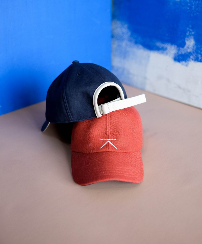 fd419b8496af Linen cap - Orange - Designer Kodangs