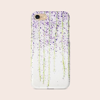 "Phone Case ""Wisteria Flowers"" design by Little 149 A006CC001"