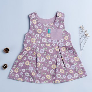 Pocket dress - sunflower child newborn children's wear children's hand-made dress