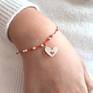 Love On A String | Love Bracelet | Heart Bracelet | Silver Heart Bracelet | Love