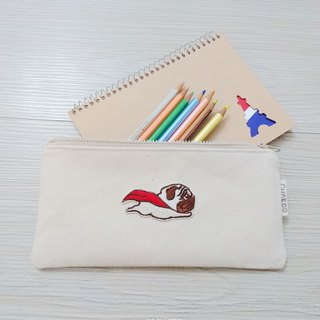 Pencil bag stationery denim pencil bag tool bag storage bag flying dog