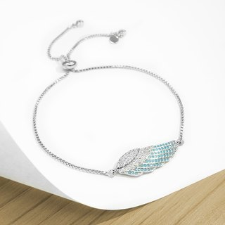 Edith & Jaz • Angel Wing Bling Bling Bracelet - Silver Color