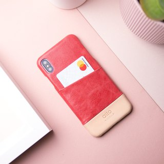 Alto iPhone X / Xs Metro Leather Case – Coral/Original