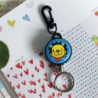 """Balloon"" retractable key chain ring bulk animal series - lion petals"