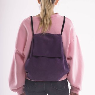 BOOFLAP backpack suede plum