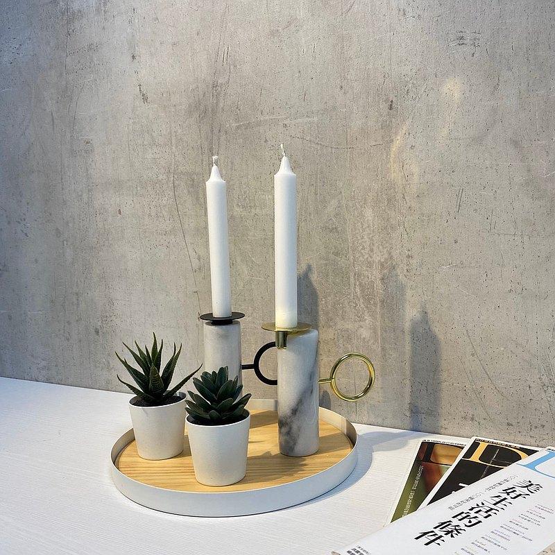大理石蠟燭台/蠟燭杯/香氛蠟燭/居家裝飾