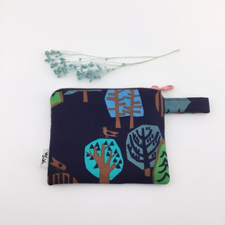 Night Forest - Coin Purse / Cosmetic Bag / Sundries Bag - Lightweight and Practical