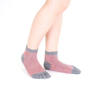 diago pattern short 5toe socks
