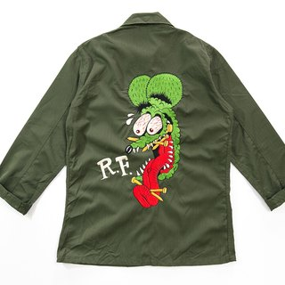 [3thclub MINGREN tong] RAT FINK uniform shirt embroidery mice Fink RF-002