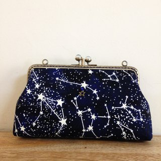 Glittering star double gold - Sling backpack / shoulder bag / cell phone package