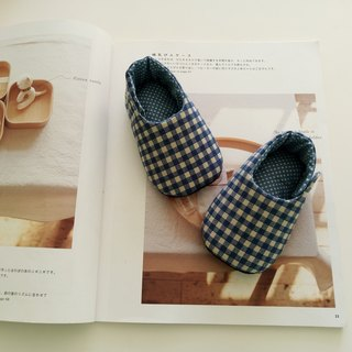 Blue Lattice Moon Gift Baby Shoes 11/12