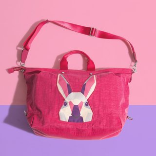 Khieng Atelier Diamond Rabbit Rabbit diamond casual big bag - love powder