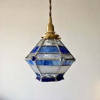 Pendant light Romantic night blue & clear glass Bay View