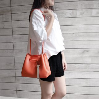 Small Tote Bag-Bright Tangerine