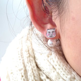 Winter series- Arctic - Hand Drawn - earrings