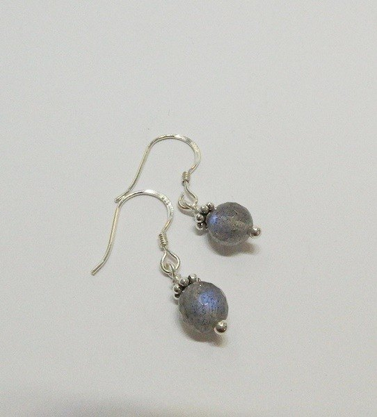 Starry Sky - Premium Natural Labradorite Sterling Silver Earrings Hong Kong Original Design