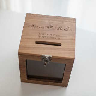 Gift jewelry storage laser engraving text pattern custom wooden box - according to actual demand content quote