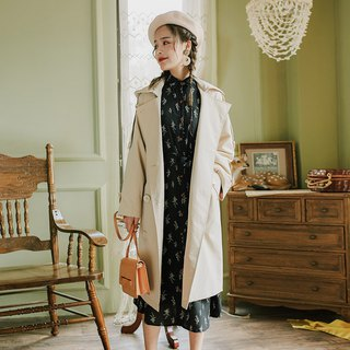 2018 autumn women's new detachable cap double-breasted trench coat