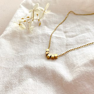 Little square-brass necklace