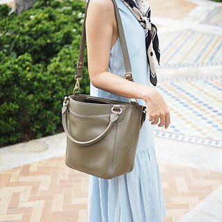 Honey: Taupe,  Tote bag, Cow Leather bag