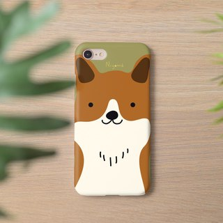 iphone case cute brown smiley dog for iphone5s,6s,6s plus, 7,7+, 8, 8+,iphone x