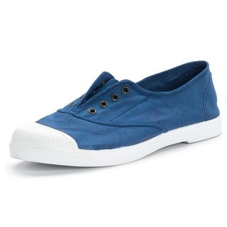 Spanish handmade canvas shoes / 102 four-hole classic / female models / navy blue