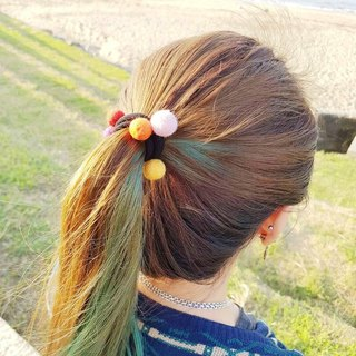Handmade wool felt hair accessories hair ring hair bundle