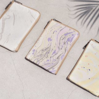 Valentine's Day Marble Mobile Phone Cases Organizer Phone Bag Leisure Card Holder - Ocean Watercolor Colorful