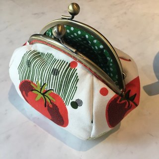 Tomato red mouth gold purse