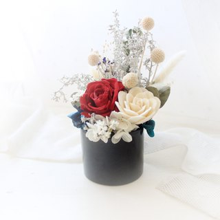 Black Forest Classical Rose Small Round Table Flower · Crimson Everlasting Rose Flower Ceremony