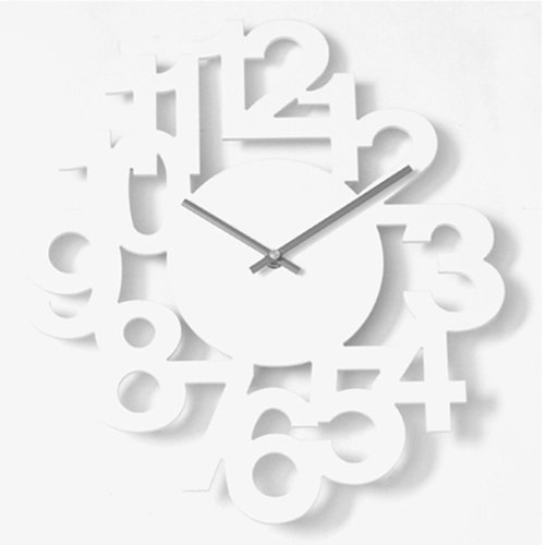 【B19005-002】 a.cerco NUMERIC LINK Stereo digital wall clock - (two colors optional) - white