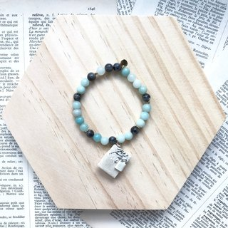Mini Book Bracelet | Beige | Pastel green