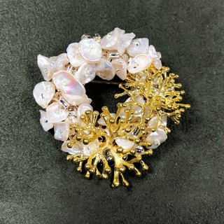 Exquisite - Japanese Style Brooch【SUMMER - CORAL】【birthday gift】【wedding】