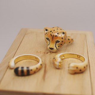 Cheetah Ring Set