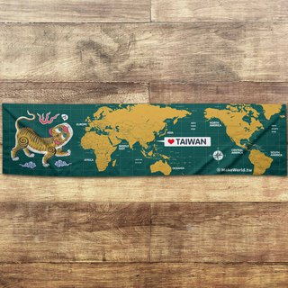 Make World map making sports towel (Greenland Tigers screaming B)